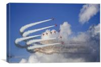 Red Arrows formation 2, Canvas Print