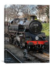 80078 Swanage to Corfe line, Canvas Print