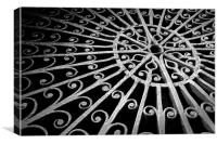 Scroll work table, Canvas Print