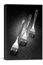 Funky forks, Canvas Print