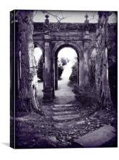 Archway at Trentham Gardens. summer 2000., Canvas Print
