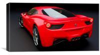 Ferrari 458 Italia, Canvas Print