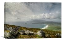 On top of Achill Island, Canvas Print