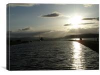 Sun In Inverness, Canvas Print