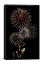 Fireworks at Airbourne, Eastbourne, Canvas Print