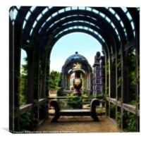 Arundel Garden Arch, Canvas Print