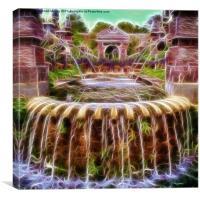 Arundel Castle Garden Pond, Canvas Print