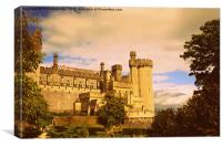 Arundel Castle Sunset, Canvas Print