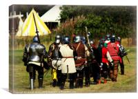 Knights Headed for Battle, Canvas Print