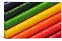 Rainbow Crayons, Canvas Print