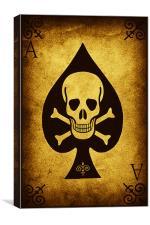 The Death Card, Canvas Print