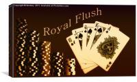 Royal Flush, Canvas Print