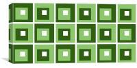 Retro Cubed Green, Canvas Print