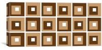 Retro Cubed Brown, Canvas Print
