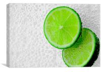 Fizzy Limes, Canvas Print