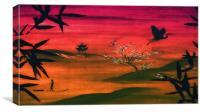 Oriental Dusk, Canvas Print