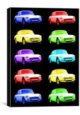 MGB GT Sports Cars, Canvas Print