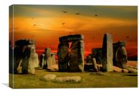 Stonehenge Fantasy, Canvas Print
