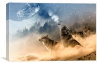 Moonrise Howl, Canvas Print