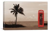 Beach Box, Canvas Print