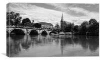 The English Bridge, Canvas Print