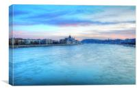 Pastel Hues of the Danube, Canvas Print