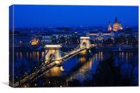 Bridge Across the Danube, Canvas Print