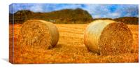 Bails of Hey, Canvas Print