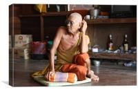 Buddhist Monk, Canvas Print