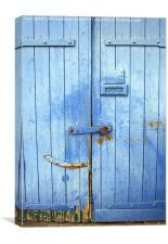 Old warehouse door at Ramsgate marina, Canvas Print