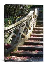 Staircase at Hever Castle, Kent, Canvas Print
