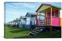 Beach huts at Tankerton, Kent, Canvas Print