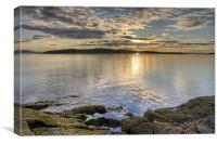 Millport sunset, Canvas Print