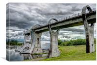 Falkirk Wheel HDR, Canvas Print