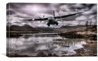 Flying through the Glens, Canvas Print