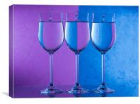 Three white wines, Canvas Print