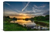 Sunset Knapps Loch, Canvas Print