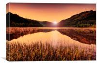 Sunrise over Loch, Canvas Print