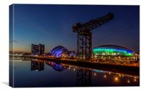 Glasgow at night, Canvas Print