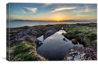 Ayrshire sunset, Canvas Print