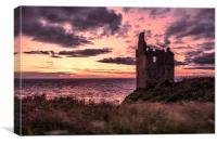 Greenan Castle, Canvas Print