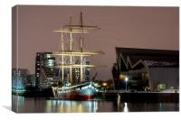 The Tall Ship at Glasgow Harbour, Canvas Print