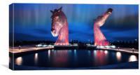 Horse statues, Canvas Print