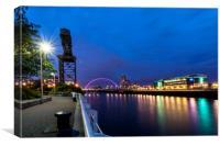 Glasgow riverside, Canvas Print