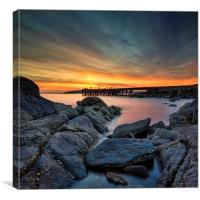 Scottish coast, Canvas Print
