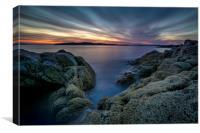 Scottish sunset, Canvas Print