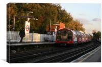 Mini Tube departing station, Canvas Print