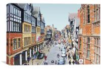 Foregate Street Chester, Canvas Print