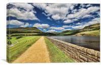 Dovestone Reservoir, Canvas Print