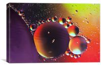 Oil on water, Canvas Print